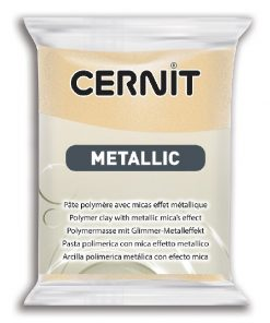 Cernit Metallics Polymer Clay, 045 Champage - 56g