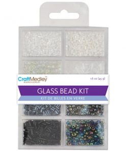 Glass Bead Kit - Classic Black & White