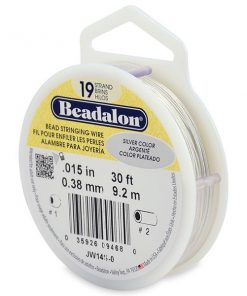 Beadalon 19 Strand Bead Stringing Wire, 0.38 mm (.015 in), Silver Colour, 9.2m (30 ft)