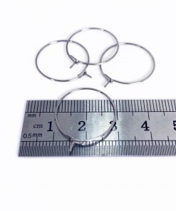 20mm Stainless Steel Hoop Ear Wire 50 pieces